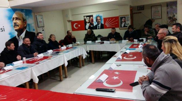 CHP Ergene İlçe Yönetim Kurulu Görev Dağılımı Belli oldu.