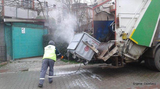 Çöp Konteynerleri Dezenfekte İşlemleri Aralıksız Sürüyor