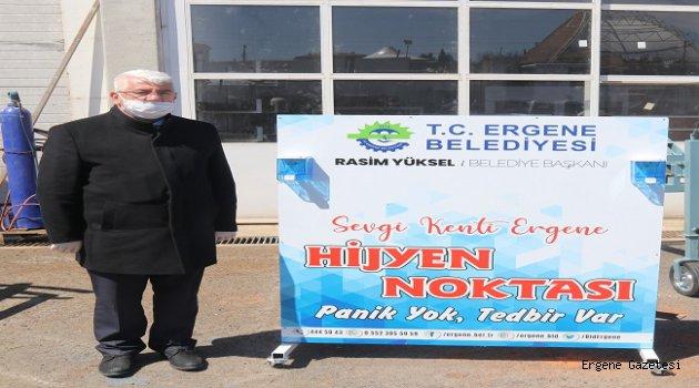 Ergene Belediyesi El Dezenfekten Üniteleri Hizmete Sunuyor