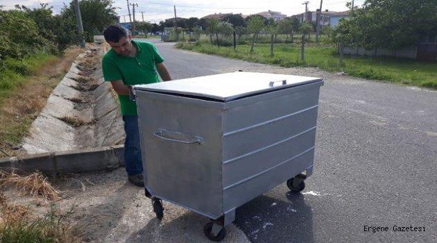 Ergene'de Çöp Konteynerleri Bakıma Alındı
