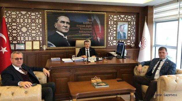 Helvacıoğlu'ndan Edirne'de Verimli Ziyaretler