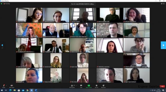 """""""Kadın ve Şiddet"""" konulu online konferans düzenlendi"""