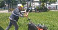 Parklarda Ot Biçme Ve Temizlik Çalışmaları Sürüyor
