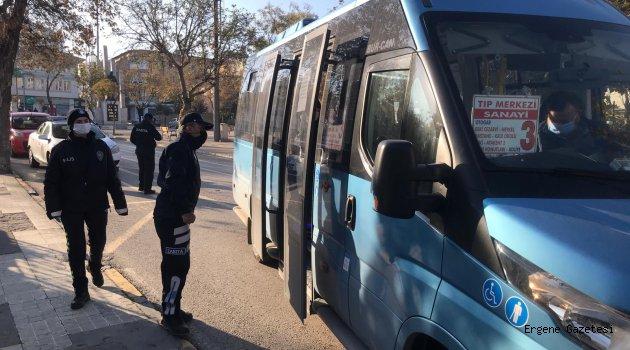 Toplu Taşıma Araclarında Koronavirüs Denetimi Gerçekleştirdi